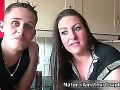 Busty brunette slut gets horny part4