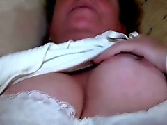 Granny toying hairy cunt