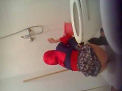 Turkish Hijab Toilet hidden