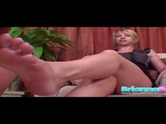 Goddess Brianna Beach Nylon Head Foot Slut