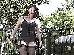 Extreme dominatrix femdom bizarre outdoor balls kicking fetish