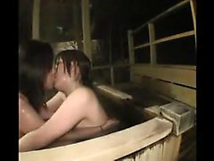 Two enchanting Japanese babes bring their lesbian fantasy t