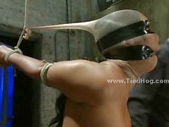 Sex slave in bondage sex