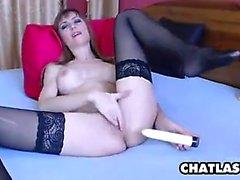 Blonde Slut With Black Stockings