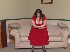 British BBW slut Jenny plays with herself in various scenes