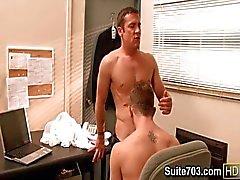 Rejäl homofile Cameron och Trevor munnar knulla