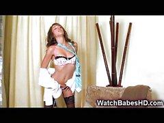 Malena Morgan Strip and Hot Solo!