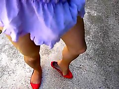 Wanking, cumshot on ballerinas 001