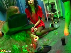 Sexy students party with fairies and witches