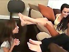 MILF Worships Young Girls Beautiful Feet