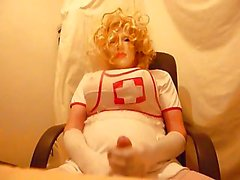 Crossdresser plasticface медсестра