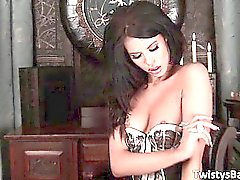 Steamy incredible sexy brunette honey part3