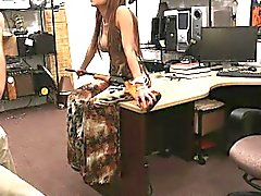 Curvy bitch posed naked and fucked hard in the backroom