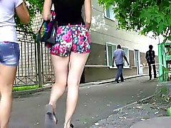 Sexy strada Ass in Shorts dalla Russia