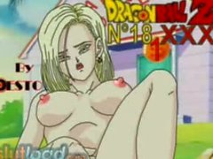 DBZ XXX Android 18 and Krillin