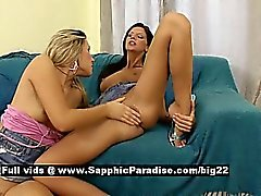 Cherry and Luka from sapphic erotica lesbo girls fingering