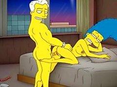 Dibujos animados de Porno la pornografía la madre Simpsons que Marge tenga