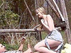 Puma swede cum Abby deep throating dick outdoor