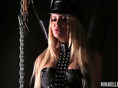 Leather and Whips with Nina Elle and Helly Hellfire