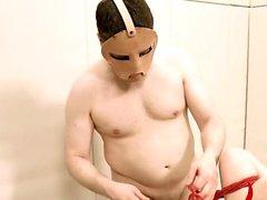 Extreme dildo anal coitus with rope BDSM teacher