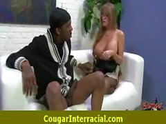 Horny cougar MILF getting fucked by black 9