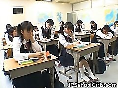 Asian students in the classroom are