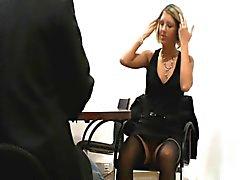 Alemães fode loira na entrevista de emprego