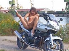 A naked biker