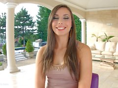 Givemepink European beauty enjoys herself in solo action outdoors