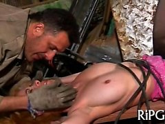 Sexual chick gets fucked in her tight backdoor hole