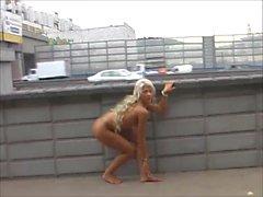 Barefoot Valeria - Moscow Public Slut
