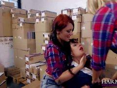 Lesbian warehouse party xxx