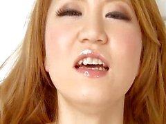 Sakamoto Hikari fingers her trimmed pussy