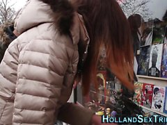 Real euro hooker toying