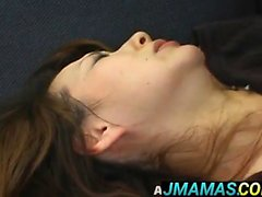 Miki Yoshii and mom have hairy cracks and mouths fucked by m