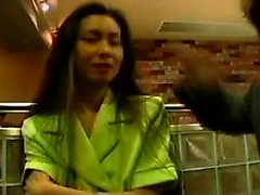 Dazzling Oriental wife has two wild boys sharing her tight