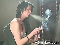 Sexy Gal Smoking Wild Sex