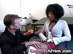 Sfruttare africani Negre Interrazziale Fanculo Hairy Pussy