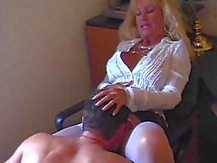 Busty mature rammed in pantyhose