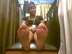 mature black feet