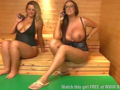 Busty blonde babe Louise Porter being naughty