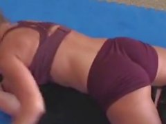 Ariel X Crushing a Guy, Mixed Wrestling Domination