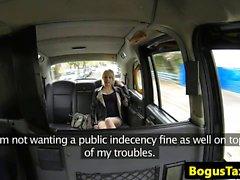 British amateur orally pleasured in taxi