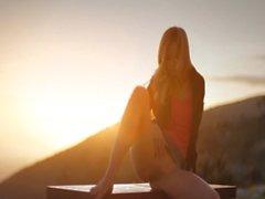Sunset in Malibu in art undress movie