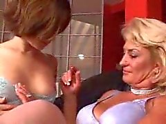 Older woman and a horny girl