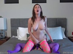 Gemma Minx and Amber Hahn Strapon fun