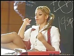 Schoolgirl Smoking Fetish Hottie