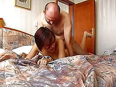 Old Man Cums Inside Annas Tight Czech Pussy