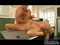 Blonde Student is a great cocksucker