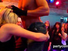 Kinky cuties get fully crazy and stripped at hardcore party